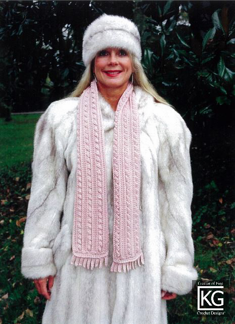 PinkCableScarf-3